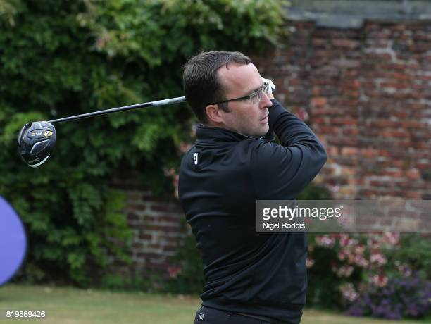 Craig Fletcher of The Golf Academy during the Golfbreakscom PGA Fourball Championship North Qualifier at Woodsome Hall Golf Course on July 20 2017 in...