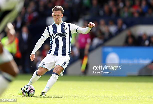 Craig Gardner during the Premier League match between West Bromwich Albion and Everton at The Hawthorns on August 20 2016 in West Bromwich England