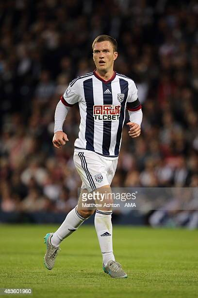 Craig Gardner of West Bromwich Albion during the Barclays Premier League match between West Bromwich Albion and Manchester City at The Hawthorns on...