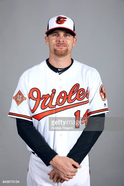 Craig Gentry of the Baltimore Orioles poses during Photo Day on Monday February 20 2017 at Ed Smith Stadium in Sarasota Florida