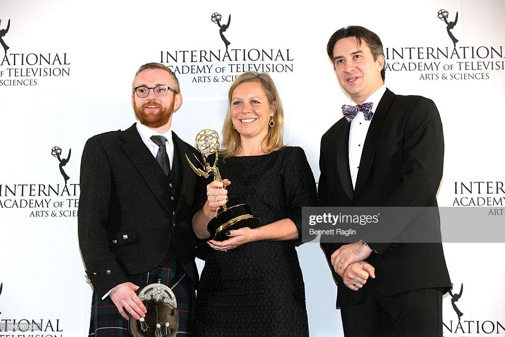 Craig Hunter, Charlotte Moore, Rob Wilkens attend the 40th Annual International Emmy Awards at the Hilton New York on November 19, 2012 in New York City.