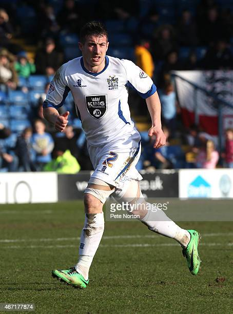 Craig Jones of Bury in action during the Sky Bet League Two match between Bury and Northampton Town at The JD Stadium on March 21 2015 in Bury England
