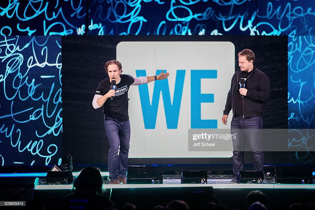 Craig Kielburger and Marc Kielburger attend We Day Chicago at Allstate Arena on April 28, 2016 in Chicago, Illinois.