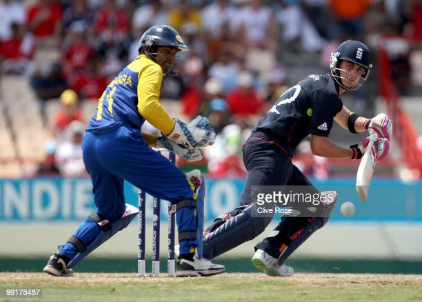 Craig Kieswetter of England in action during the semi final of the ICC World Twenty20 between England and Sri Lanka at the Beausjour Cricket Ground...