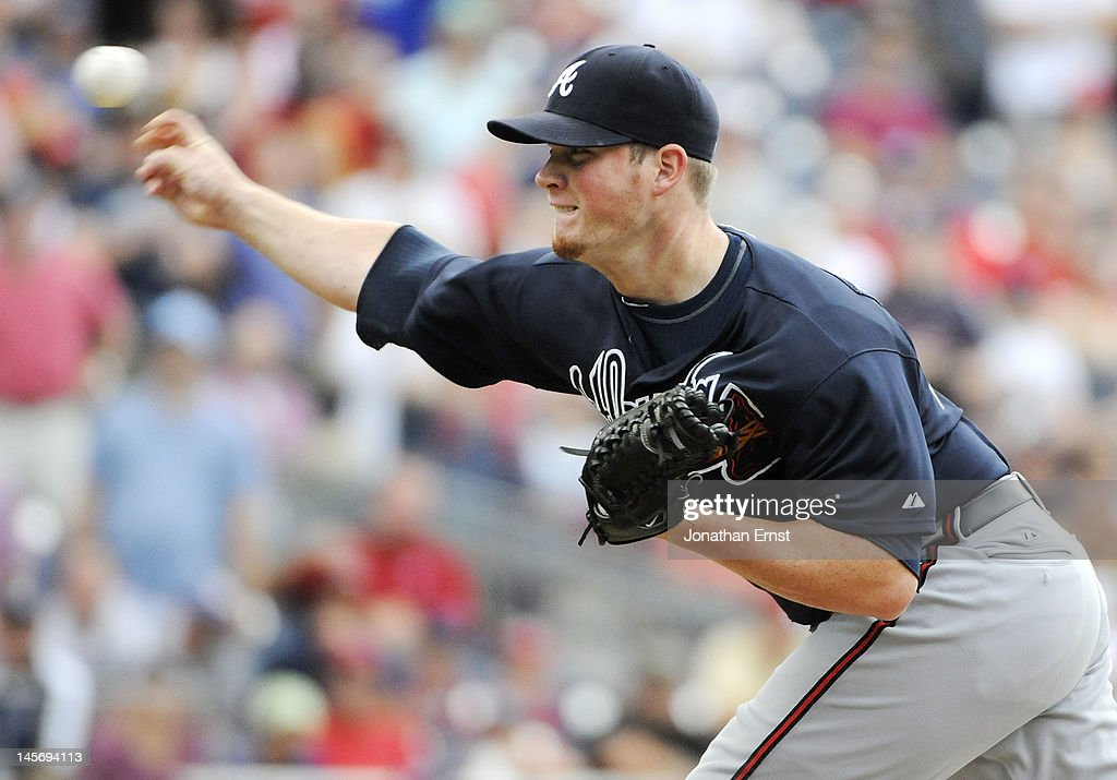 <a gi-track='captionPersonalityLinkClicked' href=/galleries/search?phrase=Craig+Kimbrel&family=editorial&specificpeople=6795784 ng-click='$event.stopPropagation()'>Craig Kimbrel</a> #46 of the Atlanta Braves earns a save against the Washington Nationals in the ninth inning of their game at Nationals Park on June 3, 2012 in Washington, DC.