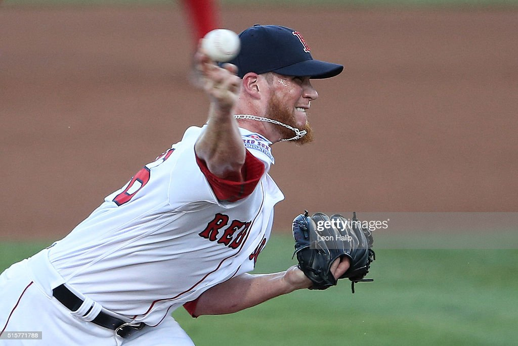 Craig Kimbrel #46 of the Boston Red Sox pitches during the fifth inning of the Spring Training Game against the New York Yankees on March 15, 2016 at Jet Blue Park at Fenway South, Fort Myers, Florida. The Yankees defeated the Red Sox 6-3.