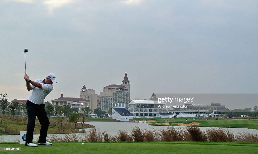 Craig Lee of Scotland in action during the second round of the BMW Masters at Lake Malaren Golf Club on October 25, 2013 in Shanghai, China.