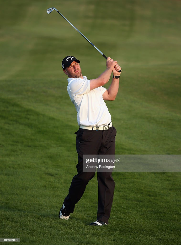 Craig Lee of Scotland in action during the third round of the BMW Masters at Lake Malaren Golf Club on October 26, 2013 in Shanghai, China.