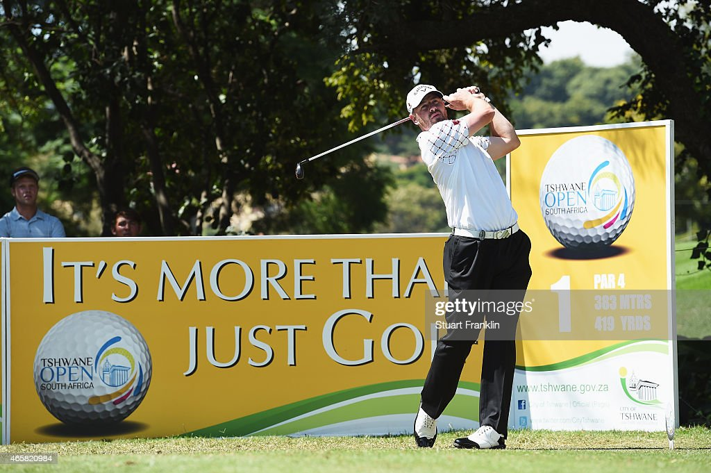 <a gi-track='captionPersonalityLinkClicked' href=/galleries/search?phrase=Craig+Lee&family=editorial&specificpeople=2959657 ng-click='$event.stopPropagation()'>Craig Lee</a> of Scotland plays a shot during practice prior to the start of the Tshwane Open at Pretoria Country Club on March 11, 2015 in Pretoria, South Africa.