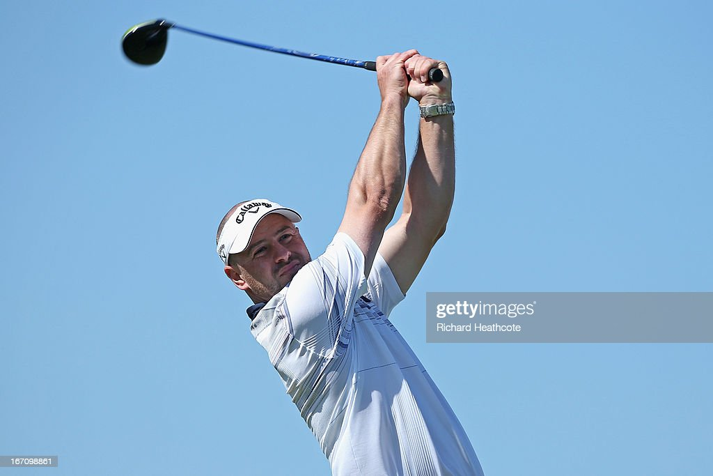 Craig Lee of Scotland tee's off at the 16th during the Third round of the Open de Espana at Parador de El Saler on April 20, 2013 in Valencia, Spain
