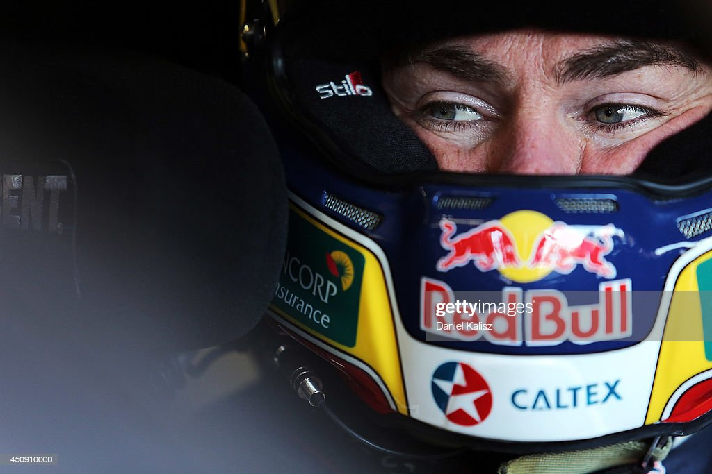 <a gi-track='captionPersonalityLinkClicked' href=/galleries/search?phrase=Craig+Lowndes&family=editorial&specificpeople=213462 ng-click='$event.stopPropagation()'>Craig Lowndes</a> driver of the #888 Red Bull Racing Australia Holden during practice for the Triple Crown Darwin, which is round six of the V8 Supercar Championship Series at Hidden Valley Raceway on June 20, 2014 in Darwin, Australia.