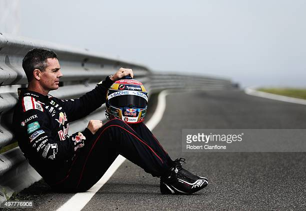 Craig Lowndes driver of the Red Bull Racing Australia Holden poses ahead of the Phillip Island SuperSprint which is part of the V8 Supercar...