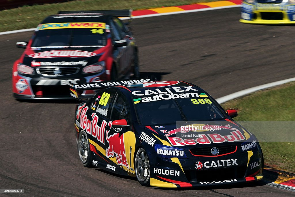 Craig Lowndes drives the #888 Red Bull Racing Australia Holden during practice for the Triple Crown Darwin, which is round six of the V8 Supercar Championship Series at Hidden Valley Raceway on June 20, 2014 in Darwin, Australia.