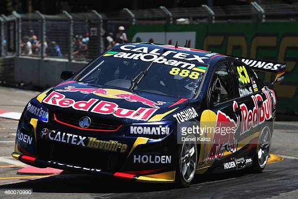 Craig Lowndes drives the Red Bull Racing Australia Holden during qualifying for race 38 for the Sydney 500 which is part of the V8 Supercar...
