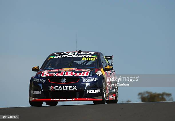 Craig Lowndes drives the Red Bull Racing Australia Holden during practice for the Bathurst 1000 which is race 25 of the V8 Supercars Championship at...