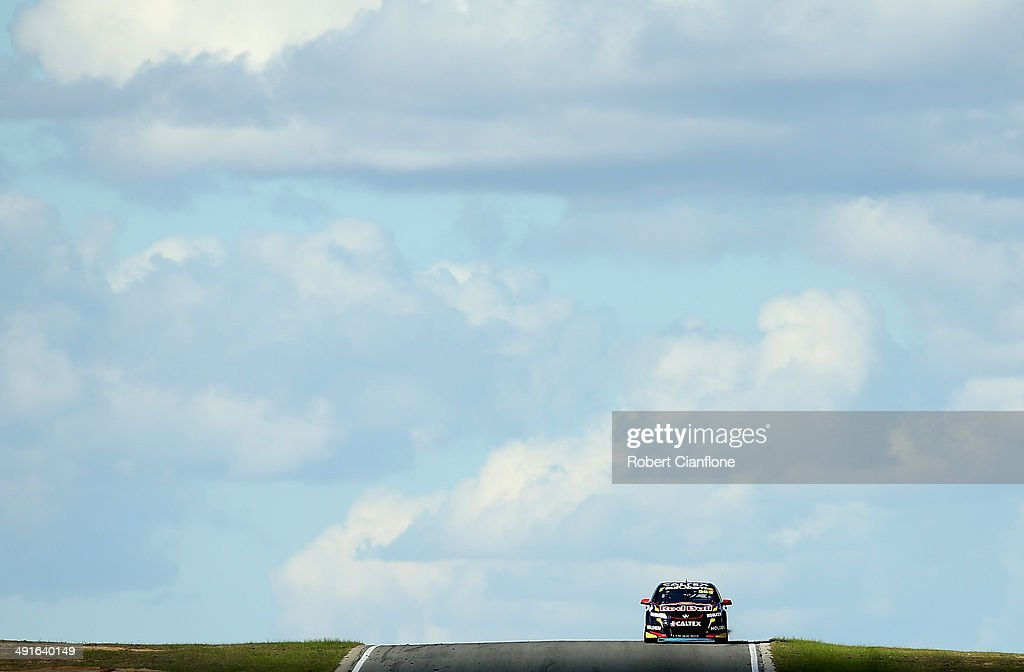 Craig Lowndes drives the Red Bull Racing Australia Holden during race 15 at the Perth 400 which is round five of the V8 Supercar Championship Series...