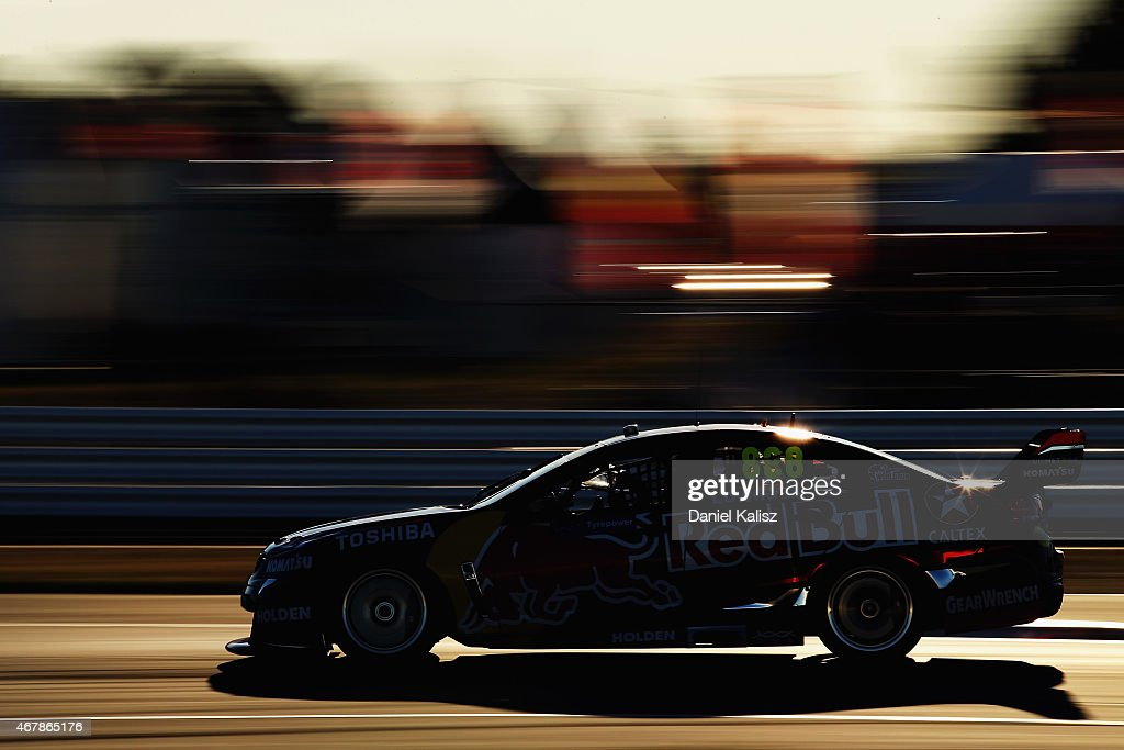 Craig Lowndes drives the #888 Red Bull Racing Holden VF Commodore during race 2 for the V8 Supercars Tasmania SuperSprint at Symmons Plains Raceway on March 28, 2015 in Launceston, Australia.