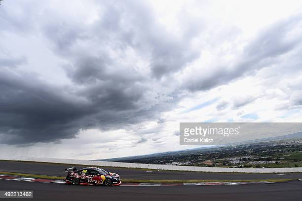 Craig Lowndes drives the Red Bull Racing Holden VF Commodore during the Bathurst 1000 which is race 25 of the V8 Supercars Championship at Mount...