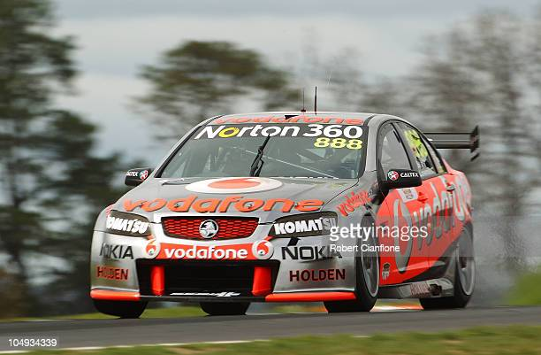 Craig Lowndes drives the Team Vodafone Holden during pratice for the Bathurst 1000 which is round 10 of the V8 Supercars Championship Series at Mount...