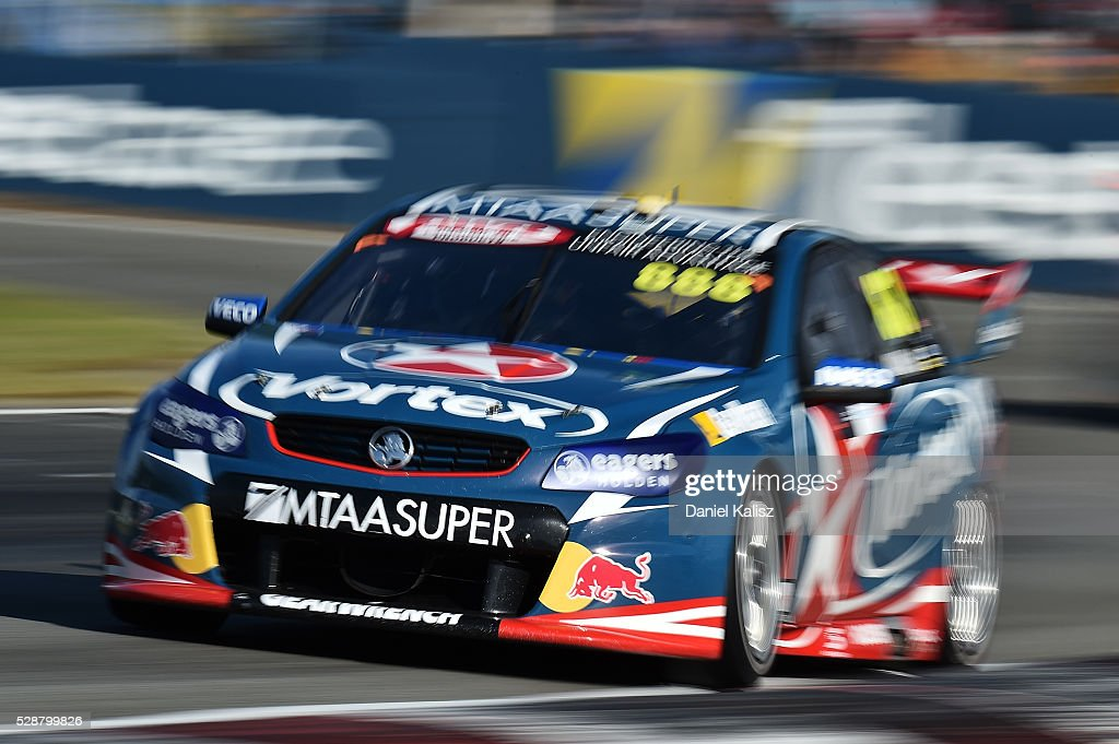 Craig Lowndes drives the TeamVortex Holden Commodore VF during race 1 for the V8 Supercars Perth SuperSprint at Barbagallo Raceway on May 7 2016 in...