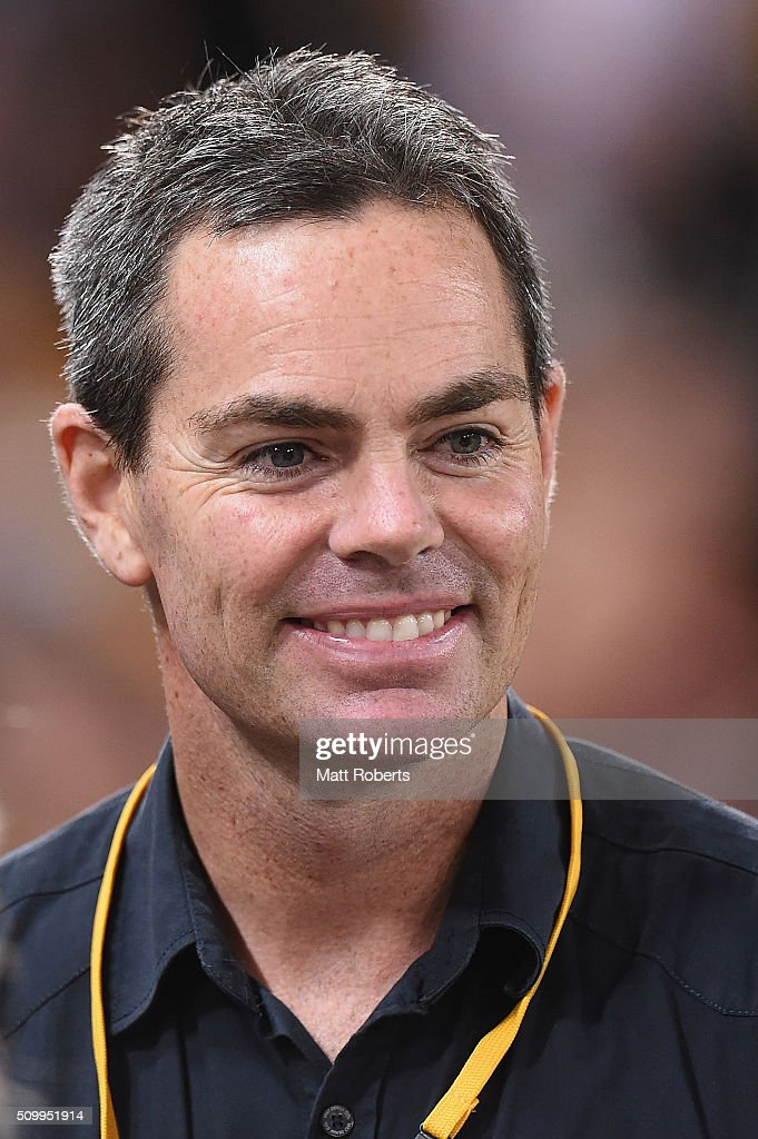 <a gi-track='captionPersonalityLinkClicked' href=/galleries/search?phrase=Craig+Lowndes&family=editorial&specificpeople=213462 ng-click='$event.stopPropagation()'>Craig Lowndes</a> looks on after the NRL match between the Indigenous All-Stars and the World All-Stars at Suncorp Stadium on February 13, 2016 in Brisbane, Australia.