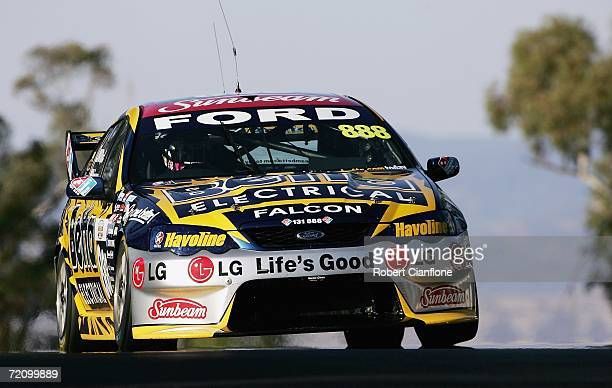 Craig Lowndes of Team Betta Electrical in action during the qualifying session for the Bathurst 1000 V8 Supercars race at the Mount Panorama Circuit...