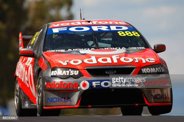 Craig Lowndes of Team Vodafone drives during the Bathurst 1000 which is round 10 of the V8 Supercars Championship Series at the Mount Panorama...