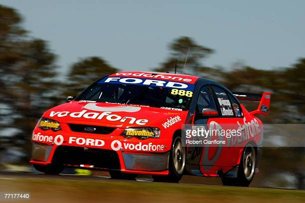 Craig Lowndes of team Vodafone in action during practice for the Bathurst 1000 which is round ten of the V8 Supercars Championship at the Mount...