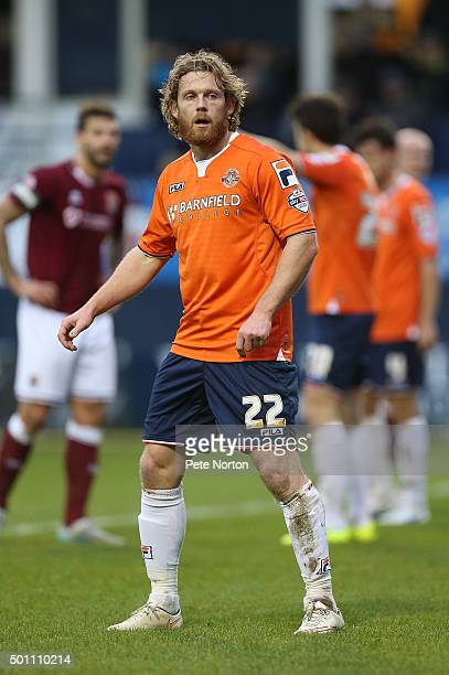 Craig MackailSmith of Luton Town in action during the Sky Bet League Two match between Luton Town and Northampton Town at Kenilworth Road on December...