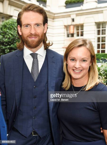 Craig McGinlay and Anna Nash attend the GQ Bar popup launch party at the Rosewood London on June 13 2017 in London England