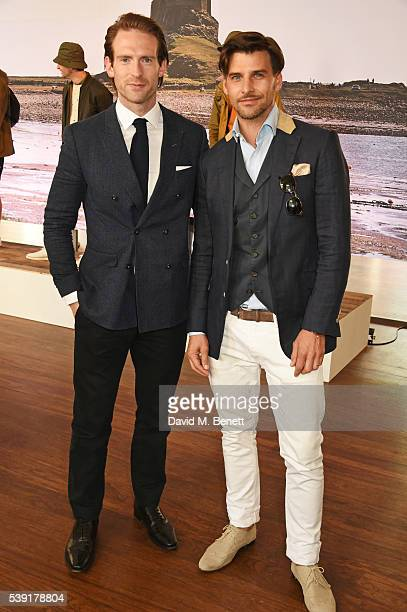 Craig McGinlay and Johannes Huebl attend the Barbour presentation during The London Collections Men SS17 at on June 10 2016 in London England
