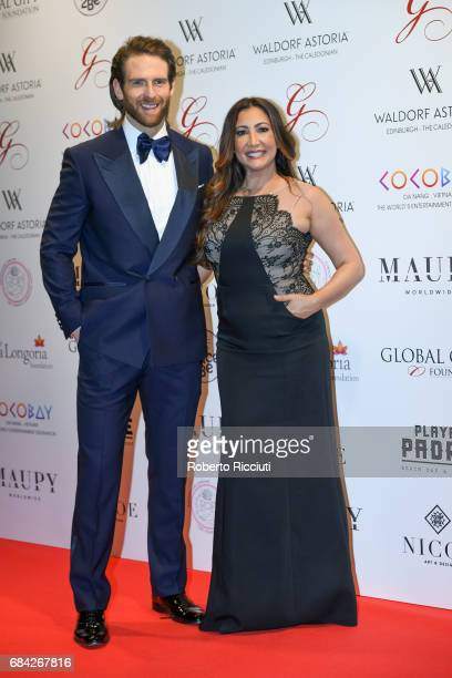 Craig McGinlay and Maria Bravo attend The Global Gift Gala Edinburgh at The Caledonian Hotel on May 17 2017 in Edinburgh Scotland