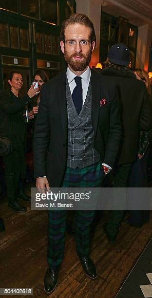 Craig McGinlay attends COACH Men's Fall/Winter 2016 Party hosted by Stuart Vevers at The Lady Ottoline on January 9 2016 in London England