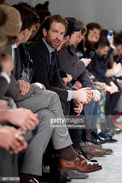 Craig McGinlay attends the CaselyHayford show during London Fashion Week Men's January 2017 collections at on January 7 2017 in London England