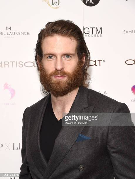 Craig McGinlay attends the ICONIC PR LND and PerrierJouët art presention of works by Picasso Miro Matisse Chagall at QP LDN on March 16 2017 in...