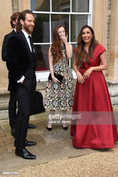 Craig McGinlay Olivia Grant and Maria Bravo attend the Global Gift Gala for The Diana Award hosted by Earl Spencer at Althorp House on June 14 2017...