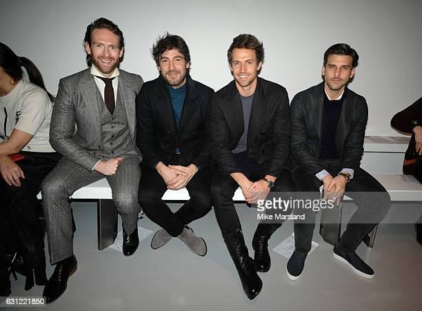 Craig McGinlay Robert Konjic Andrew Cooper and Johannes Huebl attend the Christopher Raeburn show during London Fashion Week Men's January 2017...