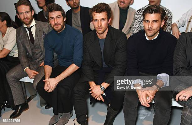 Craig McGinlay Robert Konjic Andrew Cooper and Johannes Huebl attends the Christopher Raeburn show during London Fashion Week Men's January 2017...