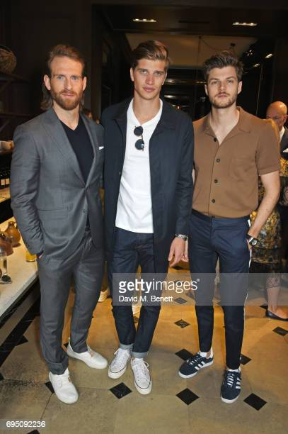 Craig McGinlay Toby HuntingtonWhiteley and Jim Chapman attend a breakfast hosted by Christopher Bailey Dame Natalie Massenet and Dylan Jones in...