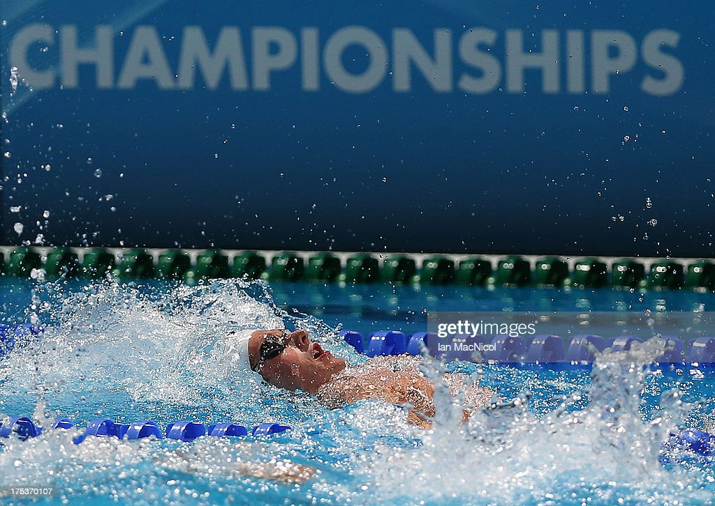 Craig McNally of Great Britain competes in the Final of the Men's 200m Backstroke at the Palau Sant Jordi on day fourteen of the 15th FINA World Championships on August 02, 2013 in Barcelona, Spain.