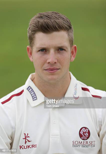 Craig Meschede of Somerset poses for a picture during the Somerset County Cricket Club Photocall at the County Ground on March 31 2014 in Taunton...
