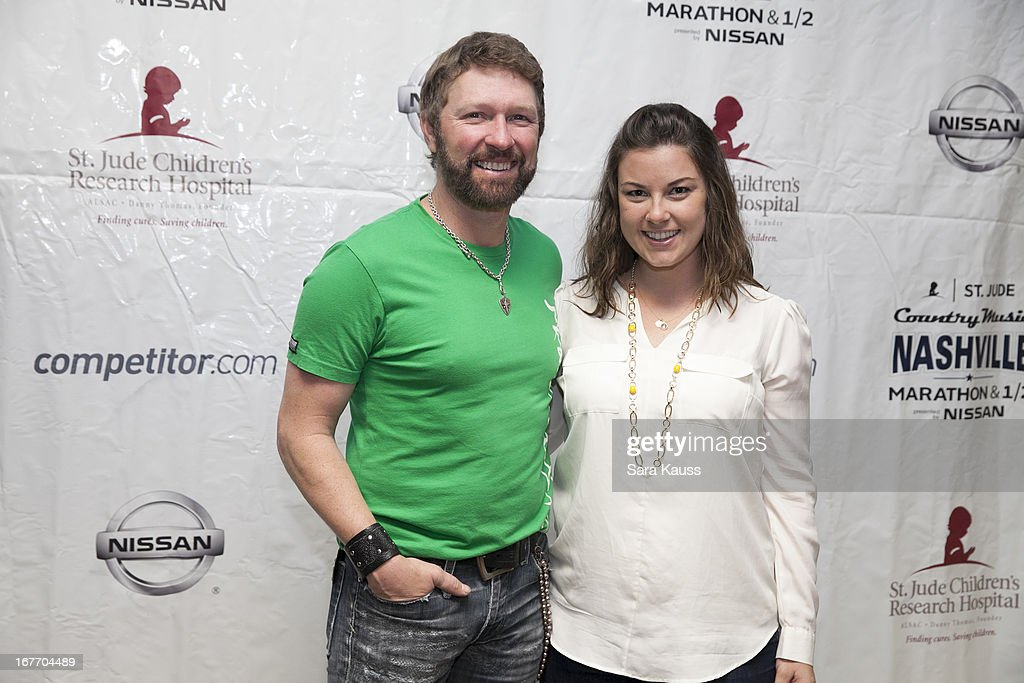 Craig Morgan and Dannielle Allen (R) attend the St Jude Country Music Marathon and Half Marathon Post Race Concert presented by Nissan on April 27, 2013 in Nashville, Tennessee.