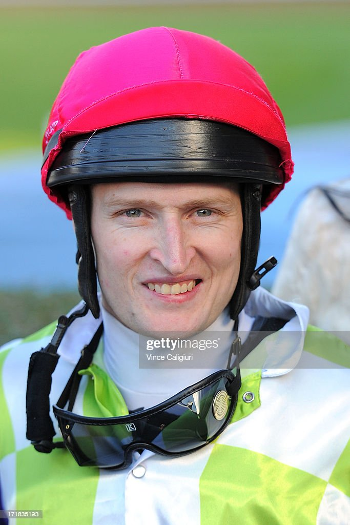 Craig Newitt after winning the Programmed Property Services Handicap during Melbourne Racing at Moonee Valley Racecourse on June 29, 2013 in Melbourne, Australia.
