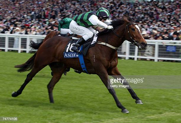 Craig Newitt and Miss Andretti land The Kings Stand Stakes Race run at Ascot Racecourse during the First day of The Royal Meeting held at the...