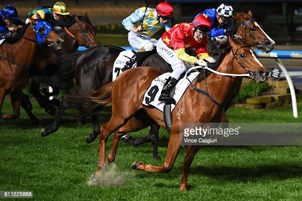 Craig Newitt riding Extreme Choice wins Race 7 Moir Stakes during Melbourne racing at Moonee Valley Racecourse on September 30 2016 in Melbourne...