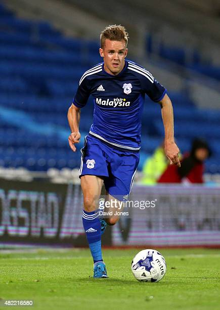 Craig Noone of Cardiff City during the pre season friendly match between Cardiff City and Watford at Cardiff City Stadium on July 28 2015 in Cardiff...