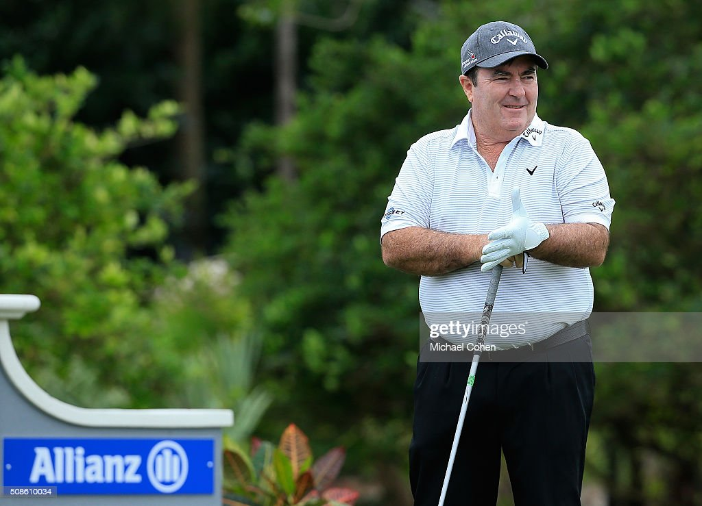 Craig Parry of Australia looks on during his debut round on the PGA TOUR Champions during the first round of the Allianz Championship held at The Old...