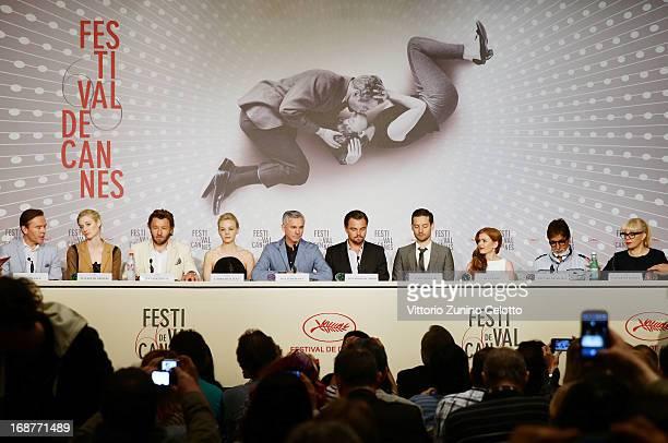 Craig Pearce Elizabeth Debicki Joel Edgerton Carey Mulligan Baz Luhrmann Leonardo DiCaprio Tobey Maguire Isla Fisher Amitabh Bachchan and Catherine...