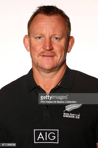 Craig Philpott poses during the New Zealand U20 Headshots Session at Novotel Auckland Airport on April 22 2017 in Auckland New Zealand