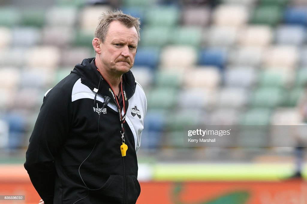 Craig Philpott the Head Coach of Hawke's Bay before the round one Mitre 10 Cup match between the Hawke's Bay and Southland at McLean Park on August 19, 2017 in Napier, New Zealand.